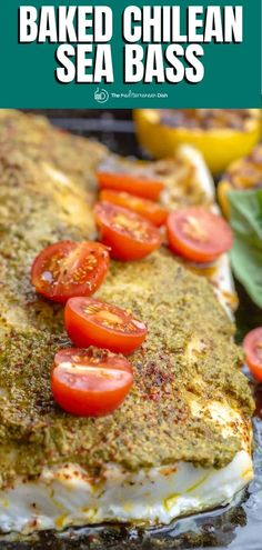 It takes only 7 ingredients and 20 minutes to make this perfectly ender, flaky, and flavorful baked Chilean sea bass recipe! Recipe comes with great tips and how-to video. Chilean Sea Bass Recipe Baked, Baked Sea Bass, Baked Fish, Mediterranean Breakfast, Mediterranean Fish Recipe, Mediterranean Dishes, Salmon Salad Recipes, Fish Recipes, Seafood Recipes