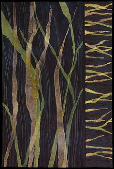 Leaves 0f Grass by Barbara Nepom. Look through her galleries not only for her quilts but wonderful improv quilting...