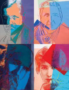 Andy Warhol, Ten Portraits of Jews of the 20th Century, silkscreen  -  issuu.com/lesliehindman/docs/sale_198/1