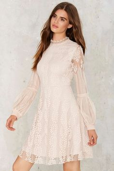 Balance the Scalloped Lace Dress   Shop Clothes at Nasty Gal!