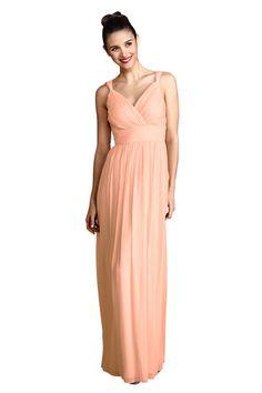 Donna Morgan 'Amy' Bridesmaid Dress in Peach Fuzz Long Bridesmaid Dresses, Wedding Bridesmaids, Bridal Dresses, Prom Dresses, Formal Dresses, Sister Wedding, Dream Wedding, Wedding Things, Dress Suits