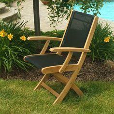 Outdoor Three Birds Riviera Folding Arm Chair White - RV20W