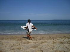 Skimboarder on Playa Los Muertos, Puerto Vallarta - Krista Funk
