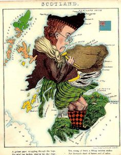 free printable map of scotland | Vintage Printable - Whimsy Map of Scotland