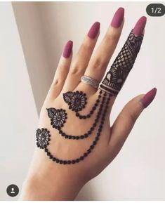 Simple Arabic Mehndi Designs, Finger Henna Designs, Basic Mehndi Designs, Back Hand Mehndi Designs, Mehndi Design Pictures, Bridal Henna Designs, Mehndi Designs For Beginners, Mehndi Simple, Beautiful Henna Designs