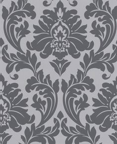 i'm still liking damask....but only with modern decor. and i like this grey on grey.