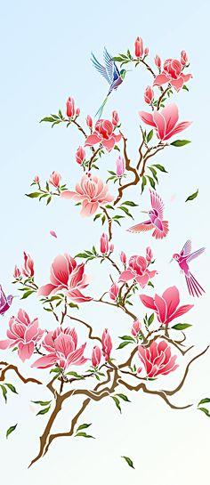 72 Best Flowering Magnolia Tree Stencil Images In 2018 Magnolia