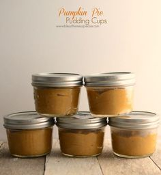 Homemade Pumpkin Pie Pudding Cups ~ just the kind of treat to enjoy when you'd like some pumpkin pie but don't want to make a whole pie. This recipe is naturally gluten free too, so it's a fun option to make for friends and family who can't enjoy traditional pie. Throw on some fresh whipped cream and you'll really be in business.