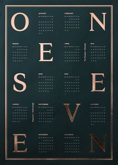 Calendar 2017, Dark Green and Copper by Kristina Krogh | Poster from theposterclub.com