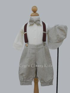 New Baby Boys Khaki Knickers Vintage Suit Outfit Christmas Easter Wedding KF Vintage Baby Boys, New Baby Boys, Baby Love, Baby Kids, Fashion Kids, Baby Boy Outfits, Kids Outfits, Easter Outfit, Just In Case