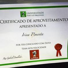 Tudo começou há apenas 9 meses... Têm sido meses, de dedicação, estudo, trabalho e empenho e os resultados falam por si! Continua a ler em: http://irinaemiguel.com/e/certificado