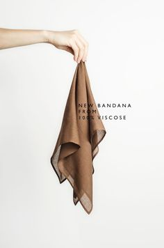 Brown bandana scarf from 100% viscose by April Look