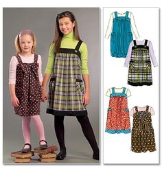 McCall's Patterns for Girls   Children's/Girls' Jumpers   McCall Patterns