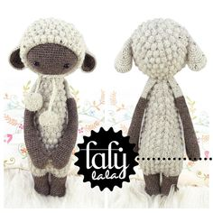 Crochet Pattern Doll LUPO the lamb / sheep by lalylala on Etsy, €5.50