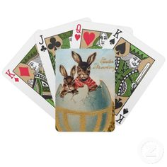 Vintage easter chick bicycle playing cards easter giftshousehold vintage easter green bicycle playing cards negle Images