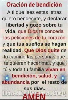 Oracion Pray In Spanish, Spanish Prayers, Healing Words, Prayers For Healing, God Prayer, Prayer Quotes, Night Prayer, Catholic Prayers Daily, Light Of Christ