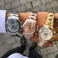 Rolex Watches Collection : Untitled - Watches Topia - Watches: Best Lists, Trends & the Latest Styles Rolex Watches For Men, Luxury Watches, Cool Watches, Dream Watches, Wrist Watches, Men's Watches, Rolex Cosmograph Daytona, Rolex Daytona, Rolex Cellini