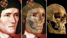 An illustration of King Richard III, who died during the Battle of Bosworth Field in 1485, and a photo made available by the University of Leicester, of King Richard III's skull. Richard III was the last king to fall in battle.