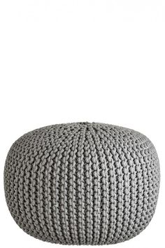 Can't get enough of this hand crochet pouf. Can I have one in every room? | @calypsostbarth
