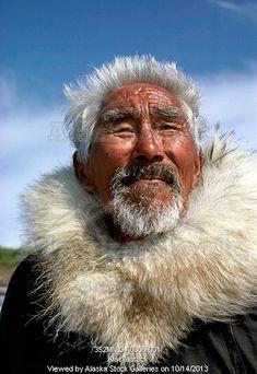 Photo of Closeup of Alaskan native Inupiat eskimo Kotzebue Alaska Arctic Spring