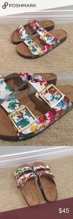 Floral Steve Madden Birkenstocks Floral Steve Madden Birkenstocks. Madden Girl brand. Perfect for a casual summer look. Cute & comfy! BRAND NEW, NEVER WORN.  Madden Girl Shoes Sandals