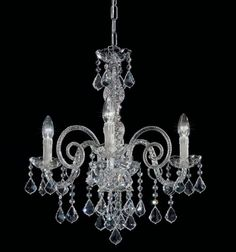 lámpara araña cristal de murano