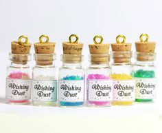 pics of miniature bottle charms | ... Necklace - star shaped fairy magic in miniature bottle charm pendant
