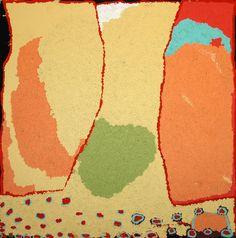 "Alma Webou (Kalaju), ""Pinkalarta,"" 2007, Acrylic on linen, 122 x 122 cm. Bidyadanga Artists; Short Street Gallery, Broome."