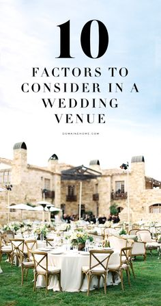 Consider these 10 things when picking your wedding venue
