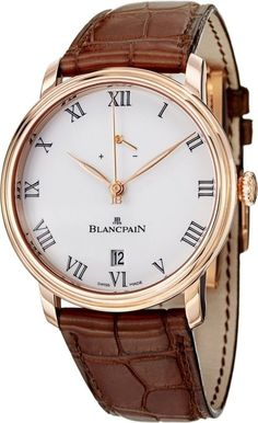 Luxury watches Blancpain Villeret 8 Days Men's Mechanical Rose Gold Limited Edition Watch 6613.3631.55B