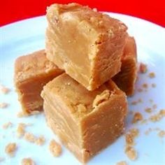 Peanut butter, brown sugar, butter, milk, confectioners' sugar and vanilla are the ingredients in this easy fudge.