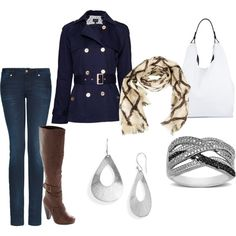 Navy Blue Fall Outfit