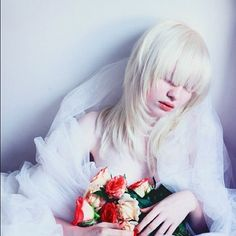 The gorgeous Russian albino model, Nastya (Kiki) Zhidkova - *Kumarov is her 1st photograph!! Kumarova is NOT her last name!!