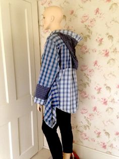 Upcycled Hoodie  Jacket Shirt Tunic by SWEETBEARIESVINTAGE on Etsy