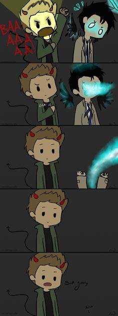 Dean and Cas ~ Supernatural Humor