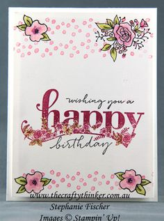 www.thecraftythinker.com.au, 2018 Occasions Catalogue sneak peek, Lots of Happy, Petal Palette, Happy Wishes, Stampin' Up