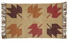 "Bring the outdoors in with our Braddock Rectangle Kilim Rug 24x36""! The neutral colors will bring life to a dull room. https://www.primitivestarquiltshop.com/search?type=product&q=braddock+rectangle+kilim+rug #primitivecountryrugs"