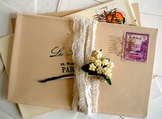 Envelope + Lace #pretty