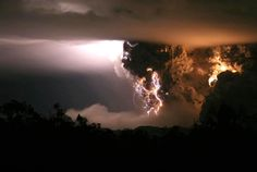 the Dirty Thunderstorm over Chilean volcano Chaiten