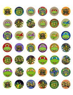 Teenage Mutant Ninja Turtles Printable Bottle Cap Images~ 42 Different Designs! in Bottle Caps   eBay