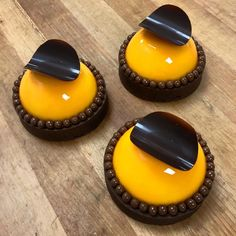 Mandarin mousse caraibe dark chocolate cremeux and ganache. dessert by tony_gauthier