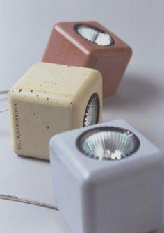 Concrete lights by Junior Phipps | Beton-lampen