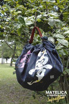 【Japonythm】 ko・to・da・ma NEO-FUROSHIKI デニム 90cm  #和モダン #書 #言霊 #デザイン #Japonythm #MATELICA  #calligraphy #風呂敷 #アート #Japan #Tokyo #furoshiki #Japonism