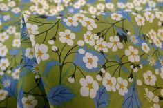 Mitsi Green - Tana Lawn - Liberty Of London - Tessuti Fabrics - Online Fabric Store - Cotton, Linen, Silk, Bridal & more