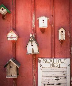 A collection of old birdhouses dresses up the side of a garden shed—or garage. Click for more easy garden art ideas!