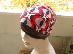 Retro Turban Head Wrap Wide Hair Tube Women's by FlowerCityThreads, $10.00