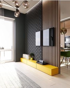 Modern Home Living Room Design. Modern Home Living Room Design. Shades Gray the nordic Feeling Tv Wall Design, House Design, Garden Design, Drawing Room Wall Design, Home Living Room, Living Room Decor, Living Room Divider, Room Divider Walls, Living Room Wall Ideas