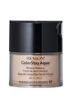 Revlon Color-Stay Aqua mineral makeup. comes with a brush too, has a cooling water feeling, like ur applying water to your skin!