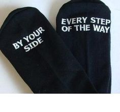 Father of the Bride socks - By your side every step of the way
