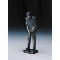 Golfer puttend bronzen beeld